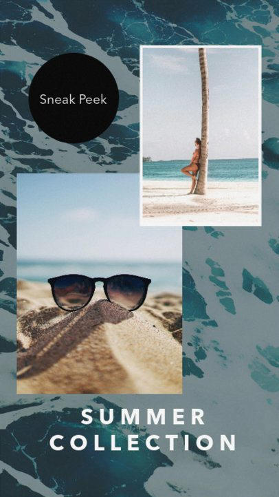 Insta Story Template with Blue Hues 947c