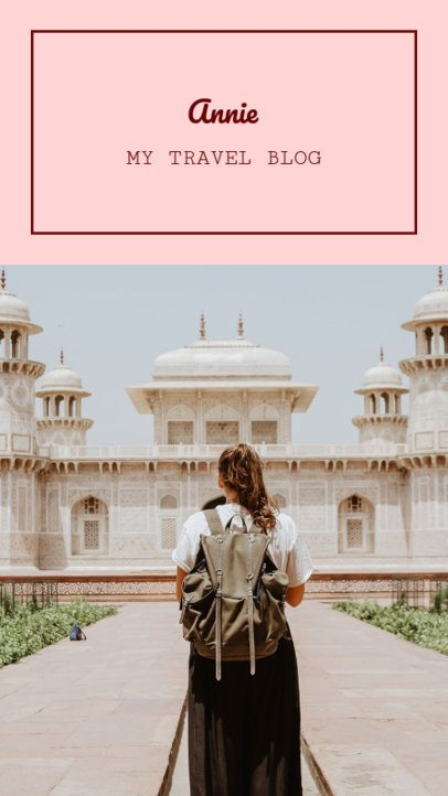 Instagram Story Template for a Personal Traveling Blog 956b