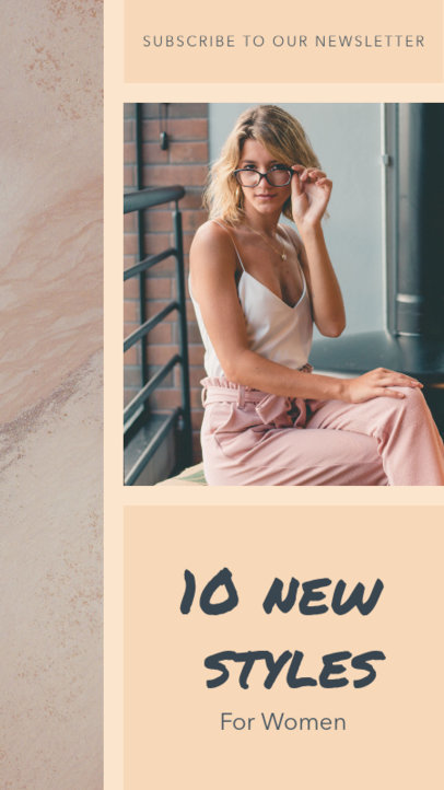 Instagram Story Template for a Women's Fashion Story 957d