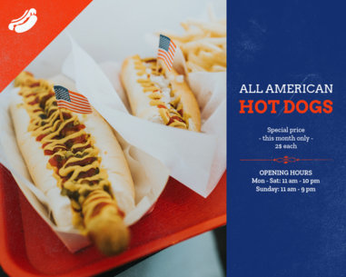 Vinyl Banner Design Generator for a Hot Dog Shack 802d