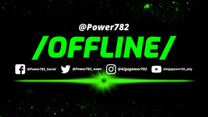 Twitch Offline Banner Maker Featuring Laser Graphics 983