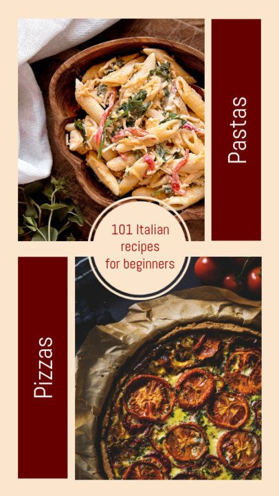 Instagram Story Template for Italian Recipes 970a