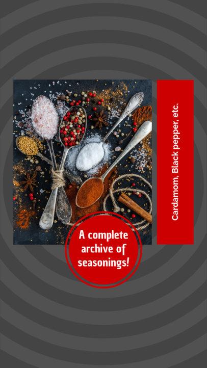 Instagram Story Template for Seasoning Tips 970d