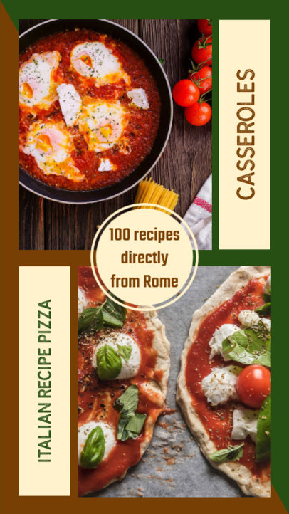 Instagram Story Template for Italian Food 970e