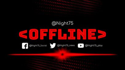 Simple Twitch Offline Banner Template with Red Hues 983a