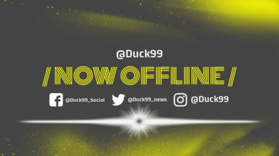 Twitch Offline Banner Maker with Spray Paint Clipart 983b