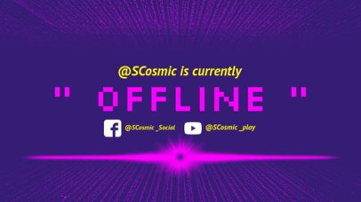 Twitch Offline Banner Maker with Pixelated Font 983c
