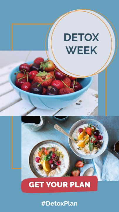 Instagram Story Template for a Detox Plan 858b