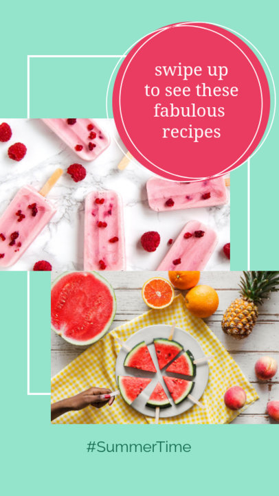 Instagram Story Generator for Summer Recipes 858e