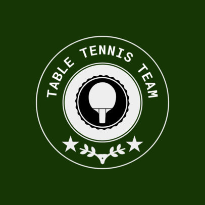Table Tennis Logo Maker for a Table Tennis Team 1627d