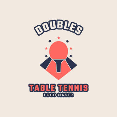 Table Tennis Logo Maker 1624d