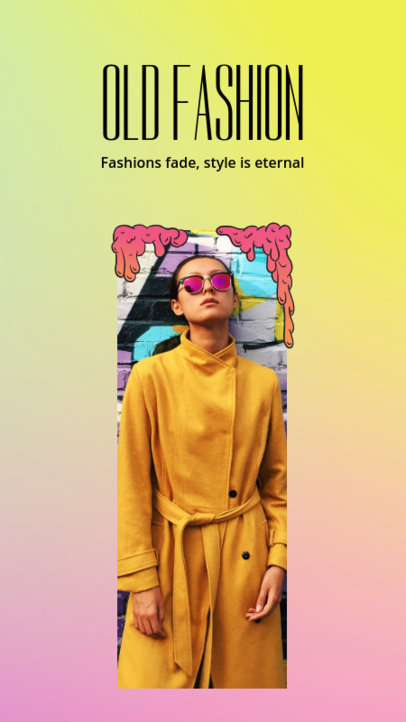 Fashionable Instagram Story Template 955d
