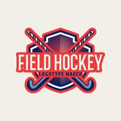 Simple Field Hockey Logo Maker 1622