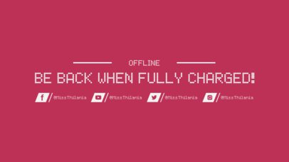 Twitch Offline Banner Template with Retro Font 974d