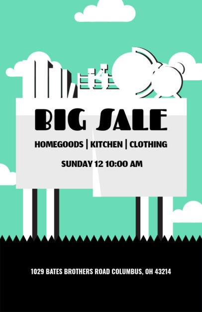 Summer Yard Sales Online Flyer Maker 104c