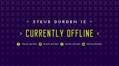 Simplistic Twitch Offline Banner Maker 980d
