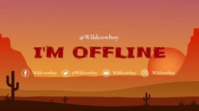 Twitch Offline Banner Generator with Desert Illustration 976a