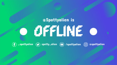 Twitch Offline Banner Maker with Green and Blue Gradient 976d