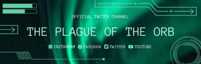 Twitch Banner Creator with Aurora Borealis Background 1036a