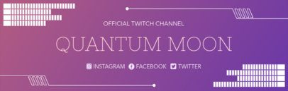 Twitch Banner Generator with Purple Gradients 1036b