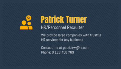 Business Card Maker for a Personnel Recruiter 1035