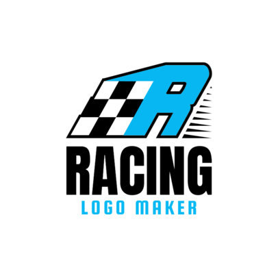 Minimalistic Racing Logo Maker 1644