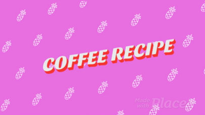 Tutorial Slideshow Video Template for a Coffee Recipe 914
