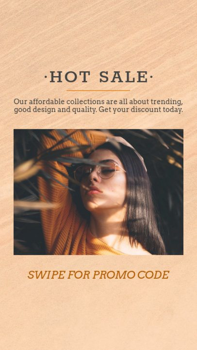 Instagram Story Template for a Fashion Promo Code 966b