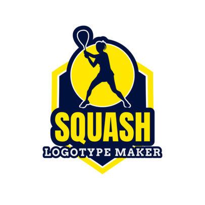 Minimalist Squash Logo Maker 1635