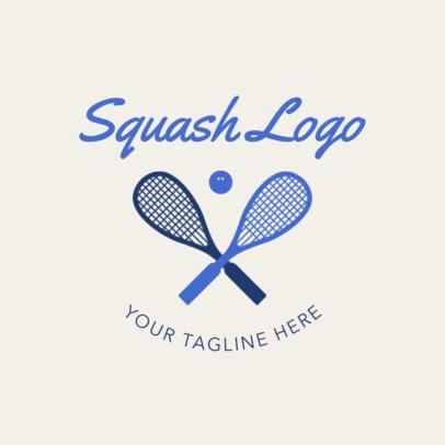 Simple Squash Logo Maker 1634