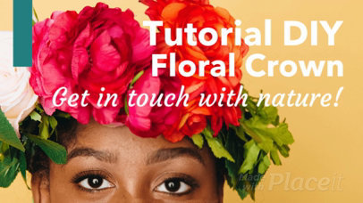 Slideshow Maker for a DIY Floral Crown Step by Step Tutorial  448a