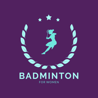 Badminton Logo Maker for a Women's Badminton Team 1632d