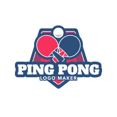 Simple Ping Pong Logo Maker 1625