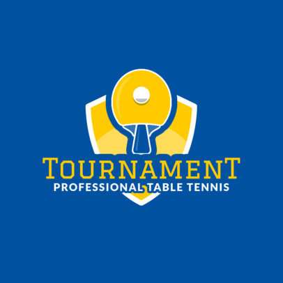 Professional Table Tennis Logo Design Template for Ping-Pong Tournaments 1625d