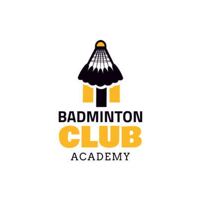 Simple Badminton Logo Maker 1629