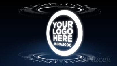 Intro Maker for a Futuristic Logo Reveal  974