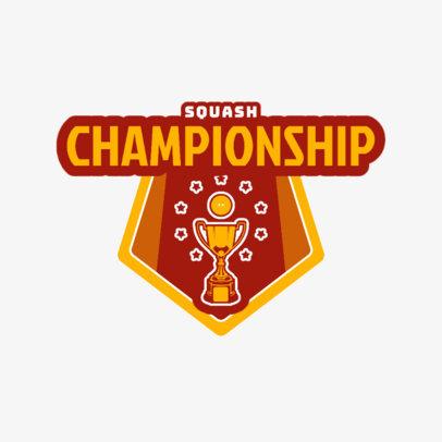 Squash Logo Maker for a Squash Championship 1635d