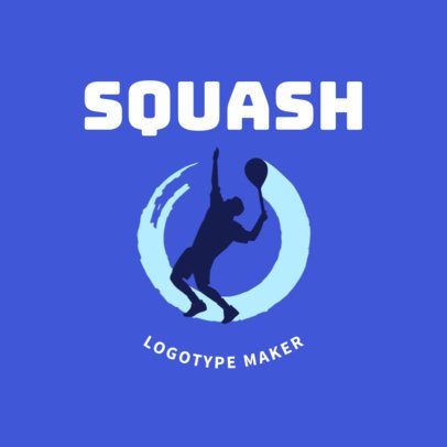 Squash Logo Creator for a Squash Player 1634a