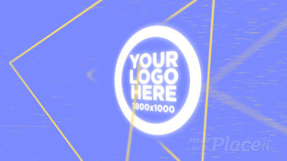Intro Maker for a Logo Reveal with Geometric Animations 976
