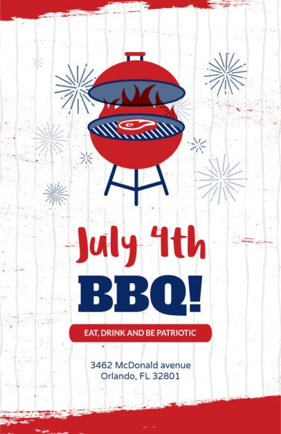 Flyer Maker for 4th of July Barbecues 153c