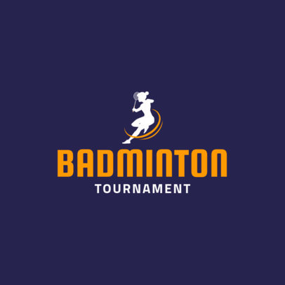 Badminton Logo Maker for Badminton Tournaments 1629d