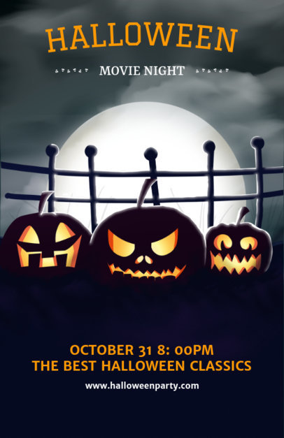 Halloween Flyer Template for a Spooky Movie Night 121e