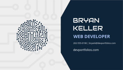 Modern Web Developer Business Card Template 75a