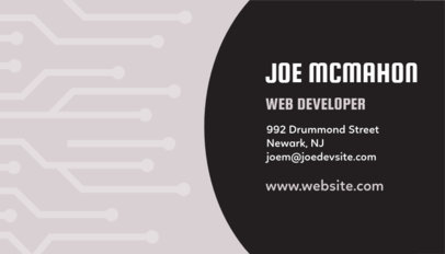 Motherboard Business Card Template for Web Developers 75d