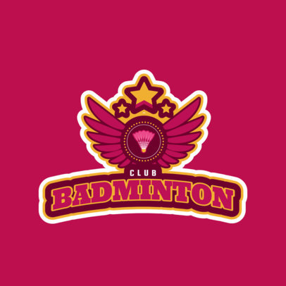 Badminton Club Logo Design Template 1628