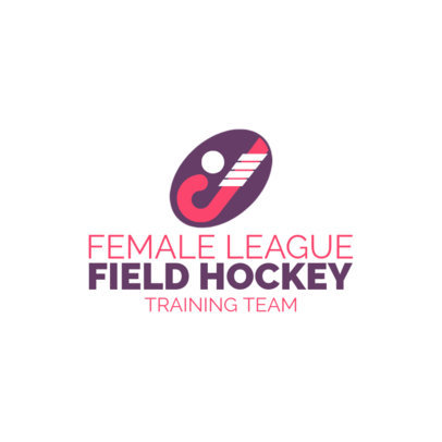 Field Hockey Logo Maker for a Female Hockey League 1620