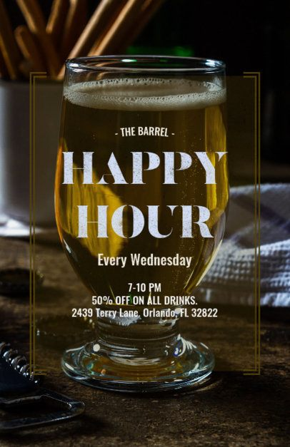 Online Flyer Maker with Happy Hour Designs 173d