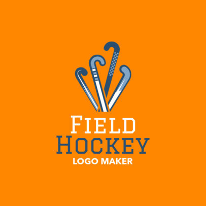 Filed Hockey Logo Template with Field Hockey Clipart 1620a