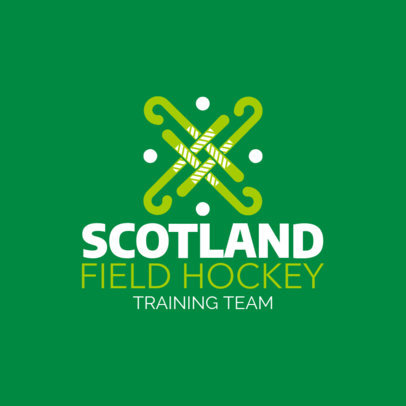 Field Hockey Logo Template for Hockey Training Teams 1620c