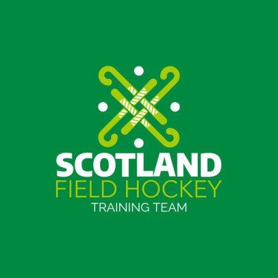 Field Hockey Logo Template for Hockey Training Teams 1620c